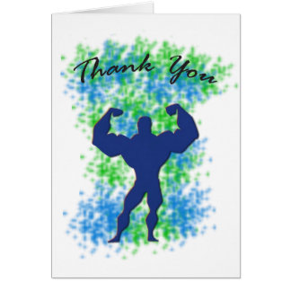 Thank You Card - Male Superhero