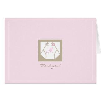Thank You Card - Monogram Diaper