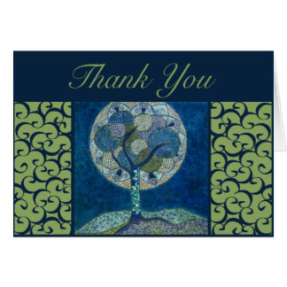 thank you card - moon in bloom painting