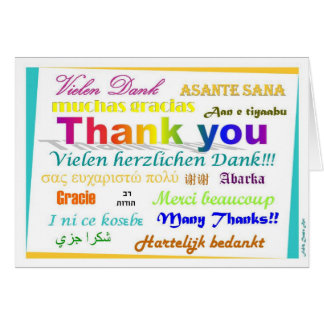 Thank You Card - multilingual