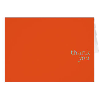 Thank you card.orange card