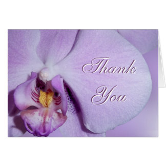 Thank You card Orchid close up