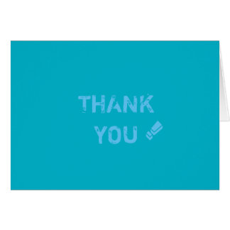 Thank you card.pacific blue card
