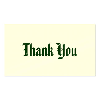 Thank you card pack of standard business cards