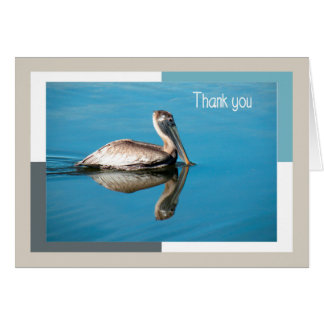 Thank You Card, Pelican with Reflection Card