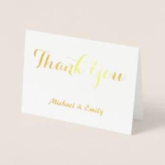 Thank you card personalized