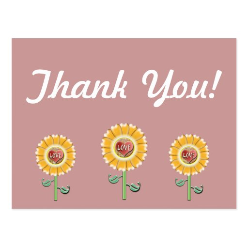Thank you Card Post Card