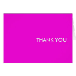 "Thank you card--""purple people pleaser"" card"