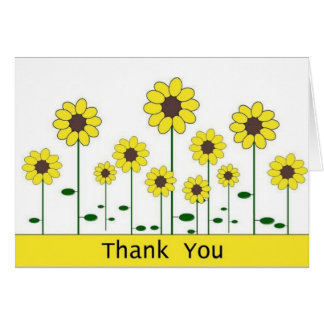 Thank You Card (sunflower)