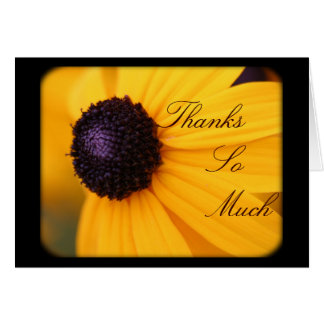 Thank You Card--Sunflower Card