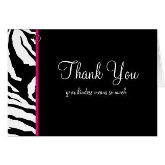 Thank You Card Template ** Bold Zebra Print