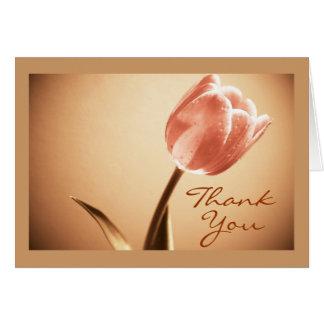 "Thank You Card (Template) ""Mango Tango Tulip"""
