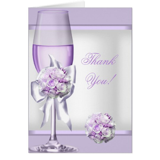 Thank You Card Wedding Lavender Purple Lilac 3