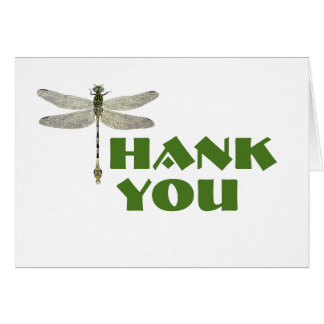 Thank You Card with Dragonfly
