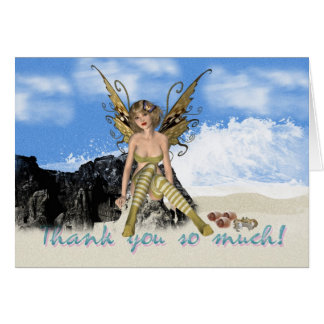 Thank you card with Fairy at the seashore