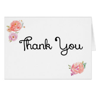 Thank You card with floral design