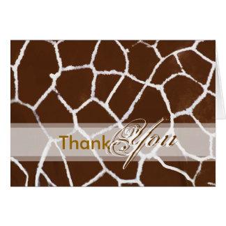 Thank You card, with giraffe Card