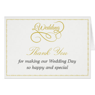 Thank You Card with Gold Frame & Graphic