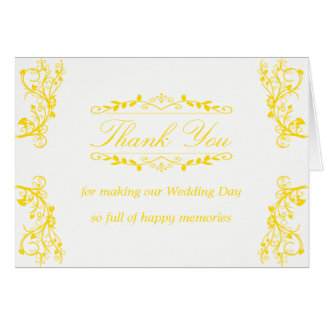 Thank You Card with ornate decoration graphics
