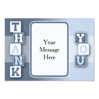 """Thank You Card with Text Frame 3.5"""" X 5"""" Invitation Card"""