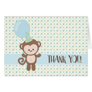 Thank You Cards - Baby Monkey