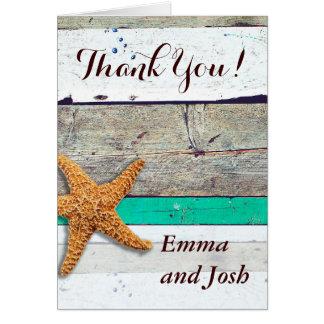 Thank You Cards Beachy Wedding Template Customize