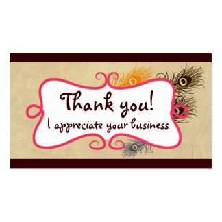 Thank you cards business card