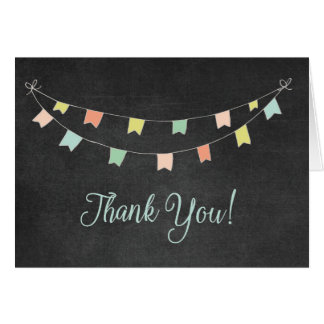 Thank You Cards - Chalkboard Bunting Flags