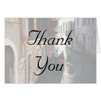 Thank You Cards for Venetian Theme