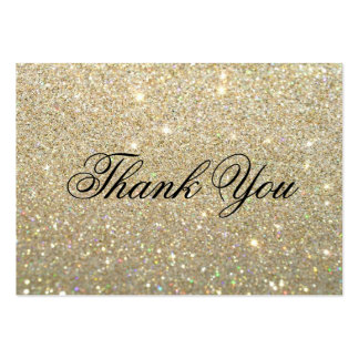 Thank You Cards - Gold Glit Fab Large Business Card