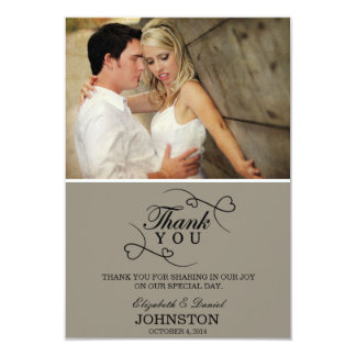 "Thank You Cards | Wedding 3.5"" X 5"" Invitation Card"