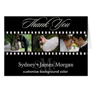 Thank You Cards, wedding photos+monogram Card