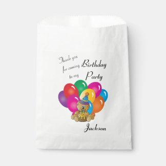 Thank You Cartoon Bear Favour Bag