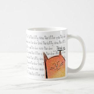 Thank you cat basic white mug