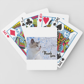 Thank You Cat Bicycle Playing Cards