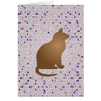 Thank You Cat Sitter Caregiver Mosaic Cat Card