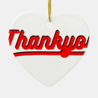 Thank you ceramic ornament