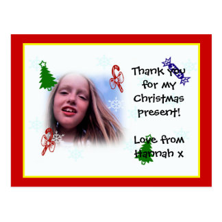 Thank you Christmas postcard