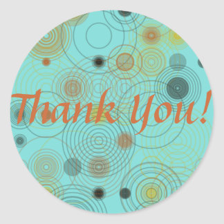 Thank You Circles Square Sticker