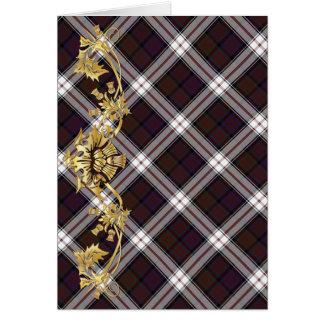 """""""Thank You"""" Clan MacDonald Tartan & Thistles - 1 Card"""