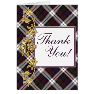"""""""Thank You"""" Clan MacDonald Tartan & Thistles - 2 Card"""