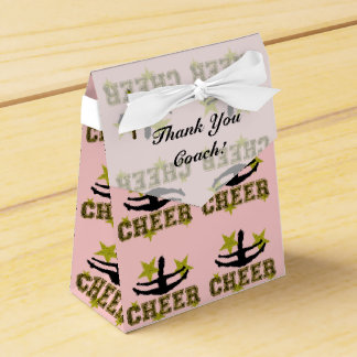 Thank You Coach Cheerleader design favor box