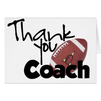 Thank You Coach, Football Greeting Card