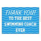 Thank you coach | swim greeting cards