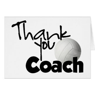 Thank You Coach, Volleyball Greeting Card