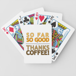 Thank You Coffee Bicycle Playing Cards