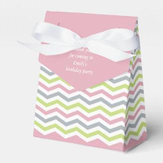 Thank you! Colorful stripes-Chevron, Favor Box