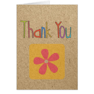 Thank you craft card