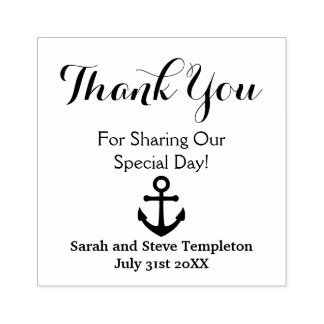 Thank You Custom  Nautical Wedding  Rubber Stamp