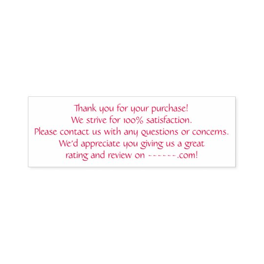 Thank You Custom Retail Ecommerce Invoice/Receipt Self-inking Stamp
